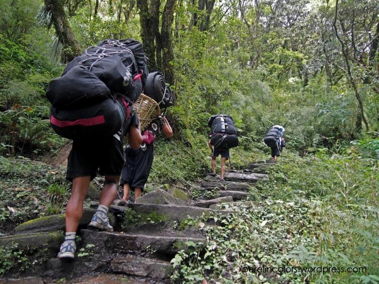 Porters on the Annapurna Base Camp trek