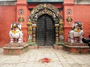 Blood on Kathmandu's Durbar square