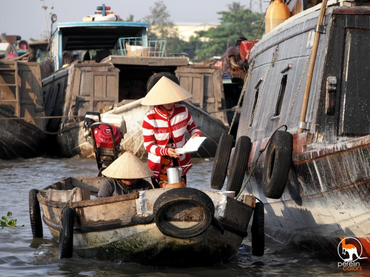 A floating market on the Mekong, posted in an article that never received much attention.