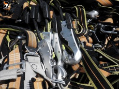 The carabiners are part of the equipment that is provided