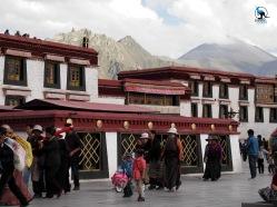 Tibetans walking the kora, a religious circumbulation of sacred places.