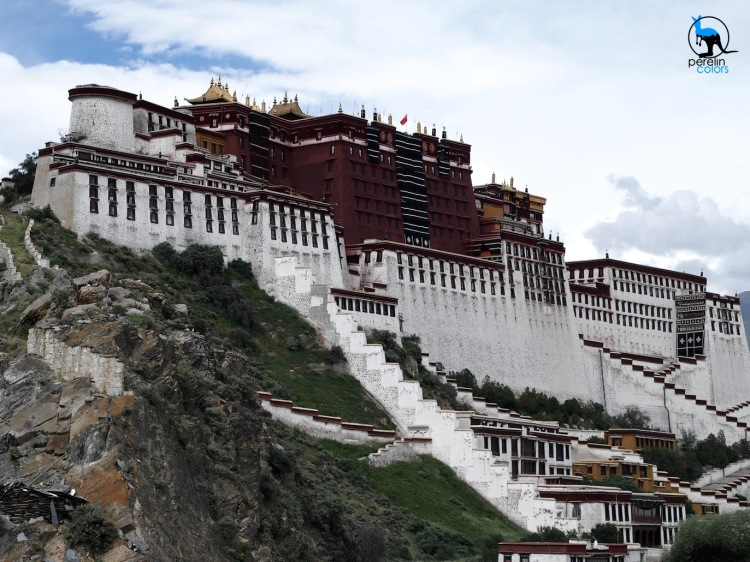 Potala Palace, once the residence of the Dalai Lama and a highlight of our visit to Lhasa despite the many stairs