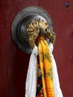 Prayer scarves in Lhasa.