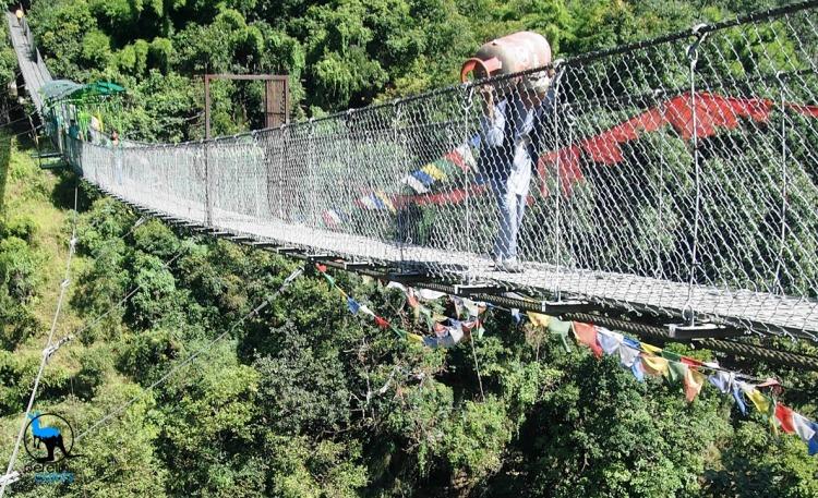 The suspension bridge that leads to The Last Resort.
