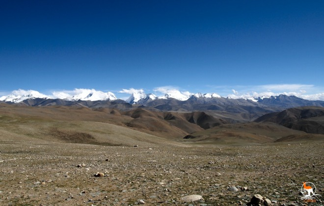 A mountain range in Tibet