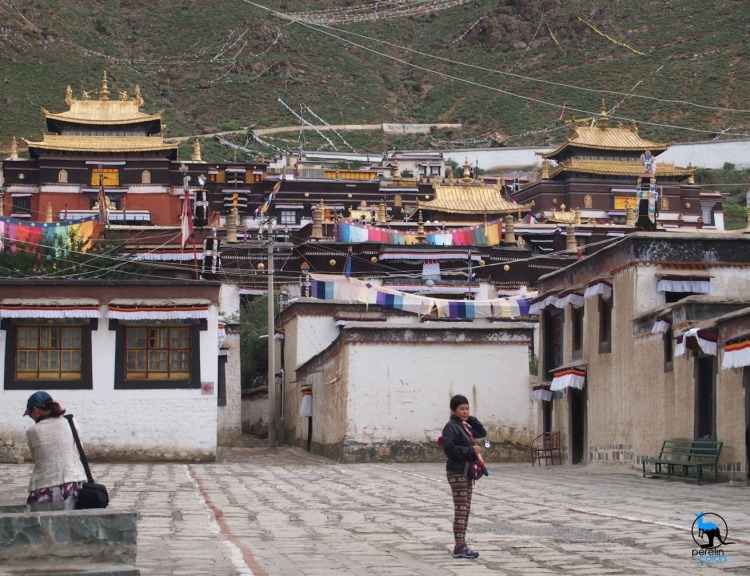 Shigatse monastery ready for an important visit (not us)