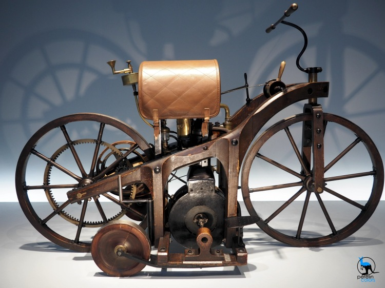 The world's first motorbike.