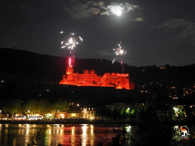The castle during the Schlossbeleuchtung.