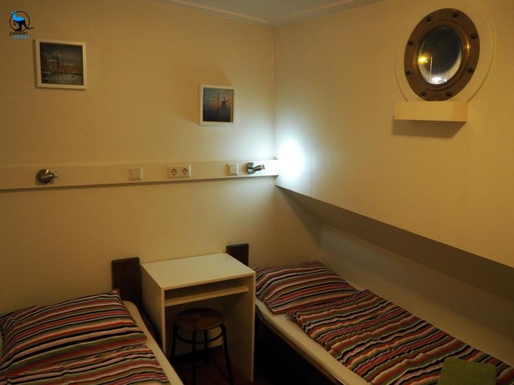 Our cabin on board of Hotelschip Gandalf - Olympus OM-D EM10, 14mm (28mm equivalent), 1/10, f3.5