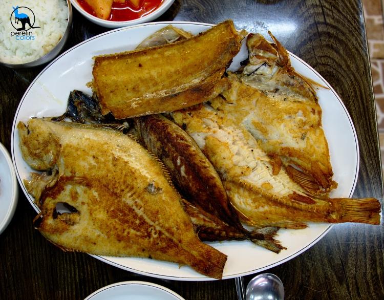 Small assortment of grilled fish at Jagalchi fish market