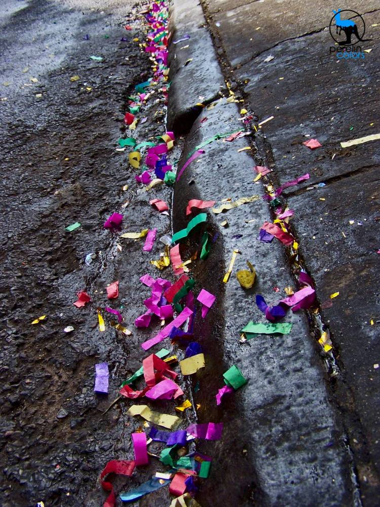 Confetti beneath our feet.