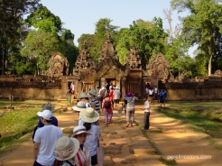 We were not alone at Banteay Srei or anywhere else.