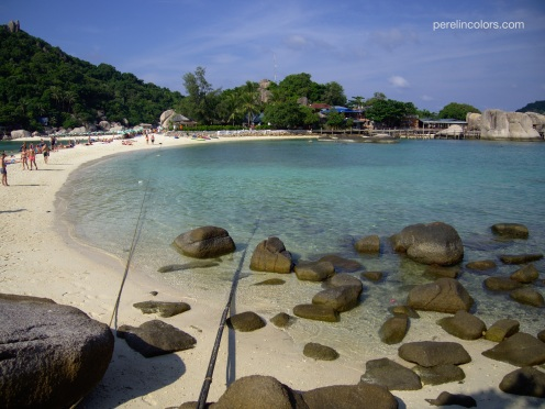 The beach on Nang Yuan Island, just off the coast of Ko Tao